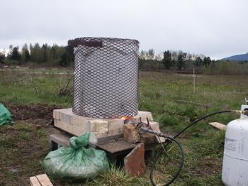 raku kiln basic setup