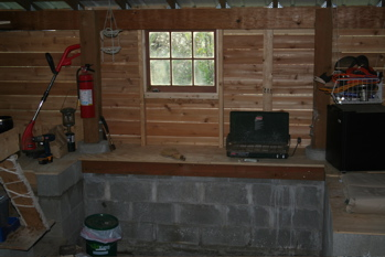 Inside the kiln shack