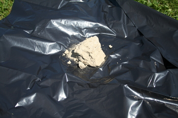 raw clump of dug up clay