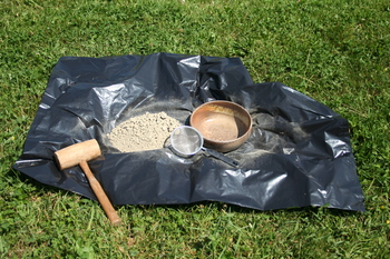powdered clay sieved from the larger bits